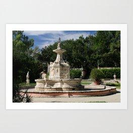 Garden Fountain Villa Vizcaya Art Print