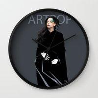 artpop Wall Clocks featuring Artpop by Annike