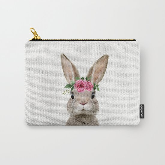 Baby Rabbit with Flower Crown by amypetersonartstudio