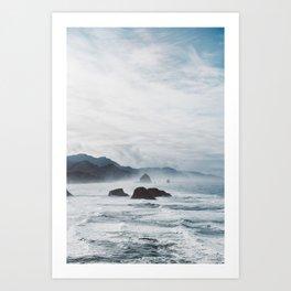 Mist Over Cannon Beach Art Print