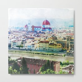 Watercolor painting of Florence Italy Metal Print