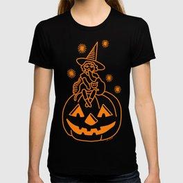 Little witch on a pumpkin T-shirt