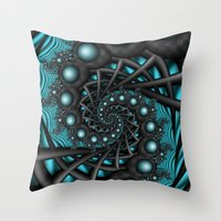 Cyber Wave Throw Pillow