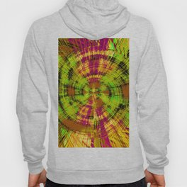 vintage psychedelic abstract pattern in green pink brown yellow Hoody