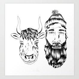 Paul and Babe II Art Print