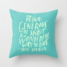 Pete Seeger Throw Pillow