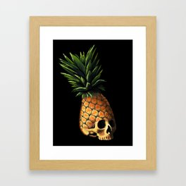 Pineapple Skull Framed Art Print