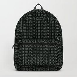 Down Downs in The Background - Black Backpack