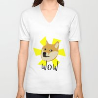 doge V-neck T-shirts featuring Doge by Subtle Tee