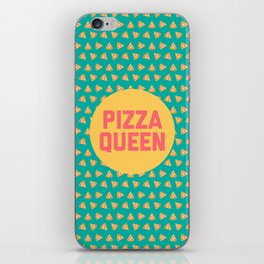 Pizza Queen Funny Quote (Graphic) iPhone Skin