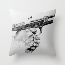 Digital Beretta Throw Pillow