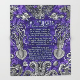 The Kraken (Purple) Throw Blanket