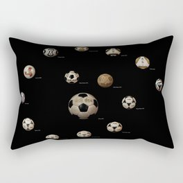 ADIDAS FIFA WORLD CUP FOOTBALL SOCCER  FUTBOL BALLS 1970-2014 Rectangular Pillow