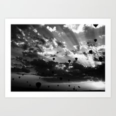 the crowded sky Art Print