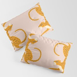 Leopard Race - pink Pillow Sham