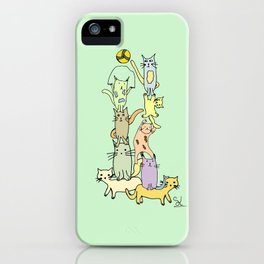 Game Day - Cats iPhone Case