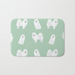 Japanese Spitz pure breed dog pattern pet gifts for dog lovers Bath Mat