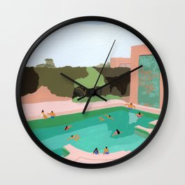 Backyard dip Wall Clock