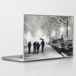 New York City Snow Bryant Park Laptop & iPad Skin
