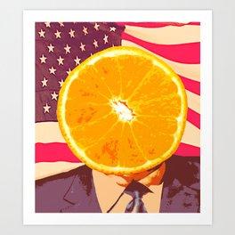Orange for President Art Print