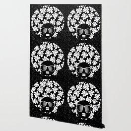 Afro Diva : Black & White Wallpaper
