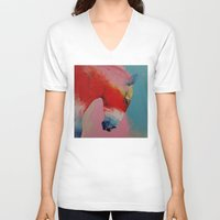 horse V-neck T-shirts featuring Horse by Michael Creese