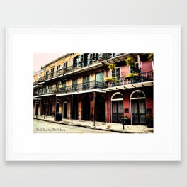 French Quarter Framed Art Print
