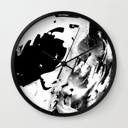 Keep Our Oceans Icy and Black and White Wall Clock