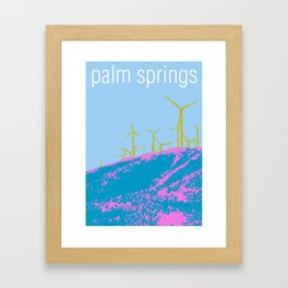 Palm Springs Wind Farm, California Framed Art Print