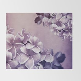 Purple Plumerias Ombre Throw Blanket