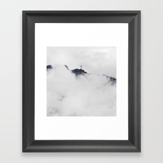 Foggy Faith Framed Art Print