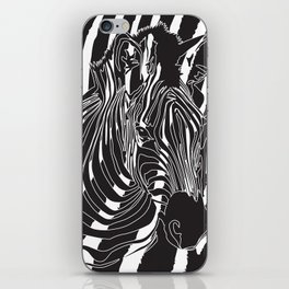 Zebra - Optical Art 5 iPhone Skin