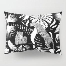 Surreal Wildlife / Black and White Pillow Sham