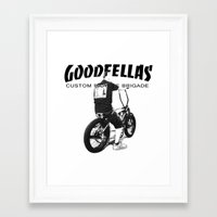 goodfellas Framed Art Prints featuring Goodfellas Custom Bicycle Brigade - XXX Logo by Goodfellas Custom Bicycle Brigade