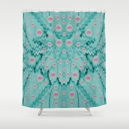 lotus  bloom lagoon of soft warm clear peaceful water Shower Curtain