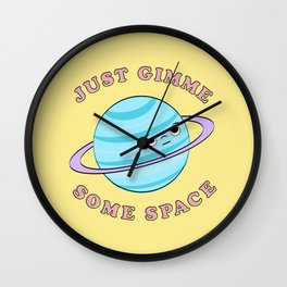 Just Gimme Some Space - Yellow & Blue Wall Clock