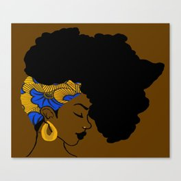 Fro African Canvas Print