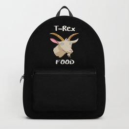T-Rex Goat Food Dinosaur Theme Backpack