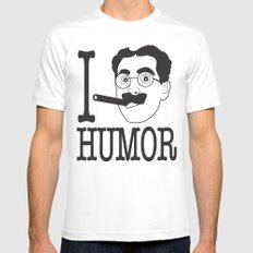 I __ Humor Mens Fitted Tee MEDIUM White