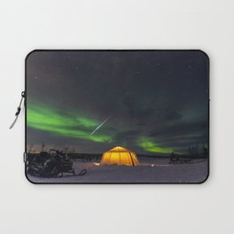 Northern Lights and Geminid Meteor Over the Arctic Laptop Sleeve