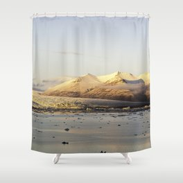 Looking glacier Shower Curtain
