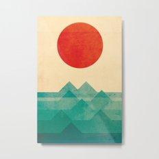 The ocean, the sea, the wave Metal Print