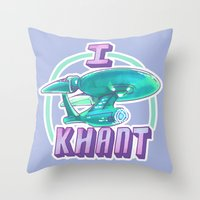 enerjax Throw Pillows featuring I KHANT by enerjax