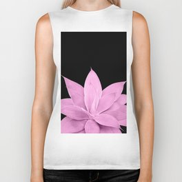 Pink Agave on Black #1 #tropical #decor #art #society6 Biker Tank