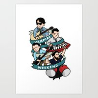 vampire weekend Art Prints featuring Vampire Weekend by Knifeson