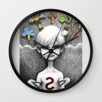 superheroes Wall Clocks featuring Superheroes SF by Otto Björnik