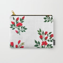 Red Roese ith buds floral Art Carry-All Pouch