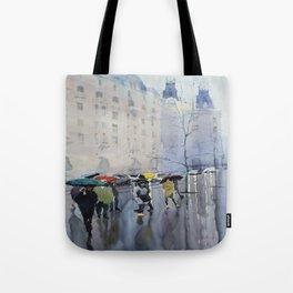 Plaze de las Cortes Tote Bag
