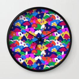 Trippy Hippie Hills Wall Clock