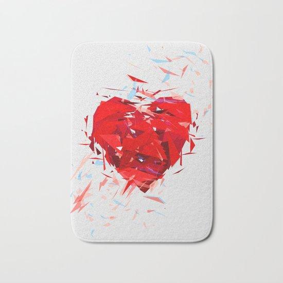 Fragile Heart Bath Mat